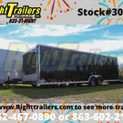 8.5X28 Black Continental Race Trailer - Hard Loaded