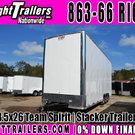 8.5x26 Team Spirit | Stacker Trailer - IN Stock! - $21,999