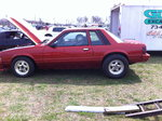 1985 Sunburst Orange Mustang