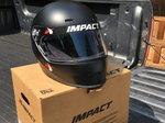 Impact 1320 flat black helmet