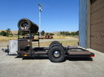 Vintage trailer for midget or small race car.