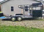 Open race car trailer