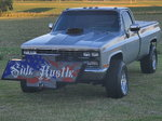 86 chevy pulling truck
