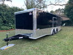 Black 8.5x22TA3  Racing Trailer