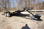 2019 Sure-Trac 20ft Wood Power Tilt Open Car Trailer