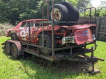 1975 Monte Carlo Dirt/Stock Car & Trailer Combo  for sale $1,000