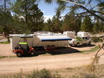 39 ft triple axle Trailer fully self-contained w/20' garage  for sale $27,000