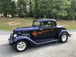 1934 Plymouth coupe, all steel, 350,auto, Stunning pnt trade