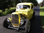 1932 Ford coupe frame, chopped and channeled 46 Ford cab.  for sale $38,500