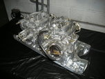 Edelbrock polished 2x4 intake with carbs   for sale $700