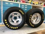 Wheels and tires (slicks) for Ford and Dodge 5 lug light dut  for sale $400