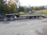 2016 Kiefer 22.5 ton trailer w/hydraulic dovetail  for sale $18,500