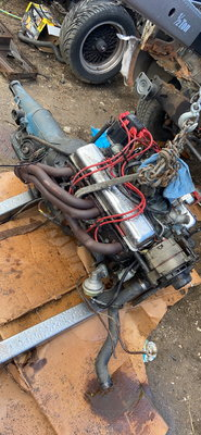 305 chevy motor with turbo400