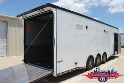 32' Black-Out Auto Master +18 SPD-LED Race Trailer Wacobill. for Sale $23,499