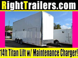 26ft Stacker Race Trailer - Nationwide Delivery - 14' Lift -