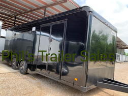 24 HAULMARK EDGE PRO ENCLOSED RACE TRAILER BLACKOUT  HAULMAR