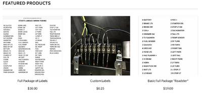 STEV'S LABELED SHRINK TUBING  for Sale $19