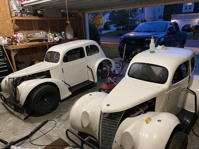 2 1937 ford sedans with vins