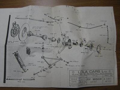 Lola T-340 342 Parts Drawings