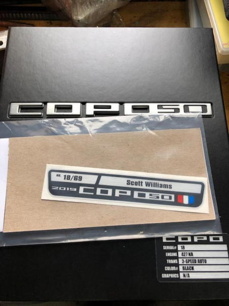 2019 COPO 50 (#18)  for Sale $132,500