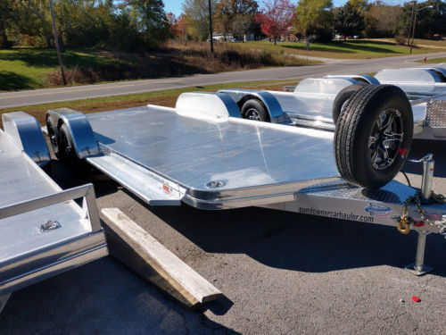2018 Sundowner 20' All Aluminum Open Car Trailer with Spare  for Sale $6,595