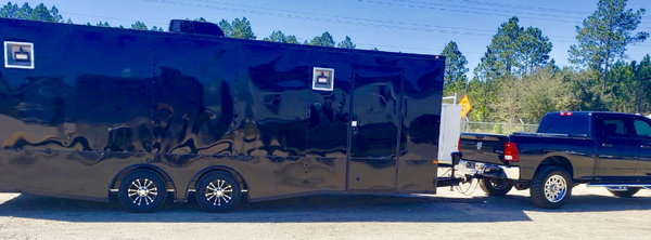 8.5x24TA3 Black/Blackout Racing Trailer  for Sale $16,138