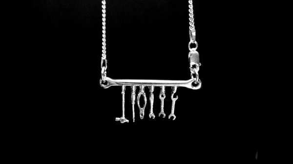 STERLING SILVER-TOOL BAR PENDANT(92.5)  for Sale $75
