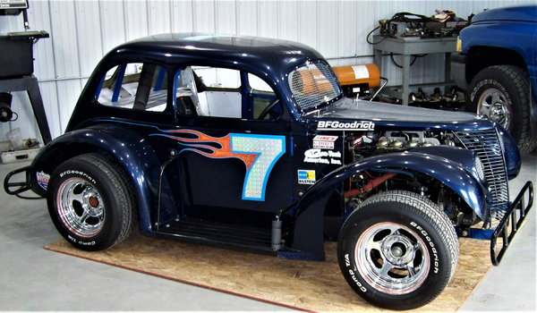 LEGENDS RACE CAR with NASCAR background for sale in CHADWICK, IL, Price:  $6,500