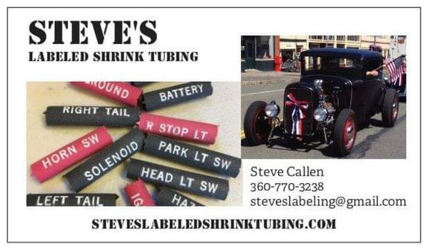 Steve's Labeled Shrink Tubing  for Sale $19