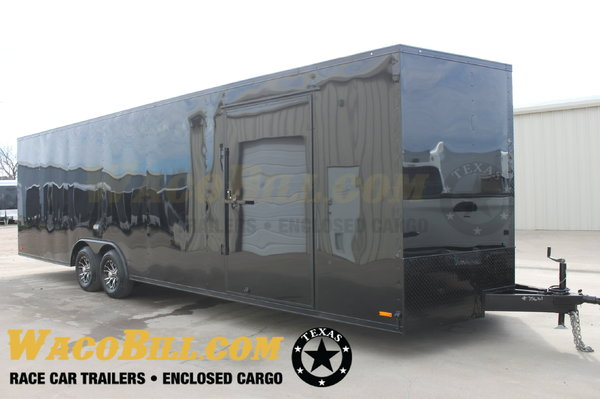 28' Black-Out Race Car Trailers New 2020 Wacobill.com  for Sale $7,495