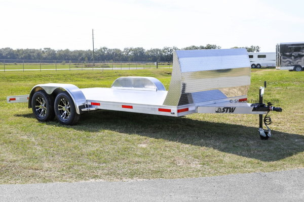 2020 STW Open Car Hauler with Aluminum Wheels and Air Dam