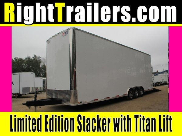 8.5x30 Stacker Race Trailer - Pro Loaded Package - $29,999  for Sale $29,999