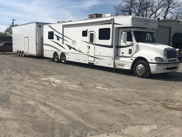 2007 45ft Haulmark w/ 2017 30ft United Sprint Car Trailer  for Sale $230,000