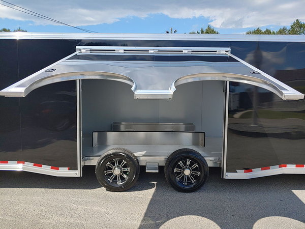 2020 ALL ALUMINUM 8.5x28 Sundowner Race Trailer Loaded with