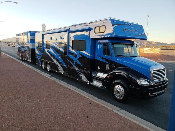 Freightliner Renegade and stacker trailer   for Sale $225,000