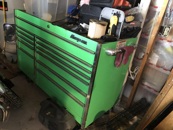 """Snap-on tool box, 54"""" 11-Drawer, KRL761, Green  for Sale $3,200"""