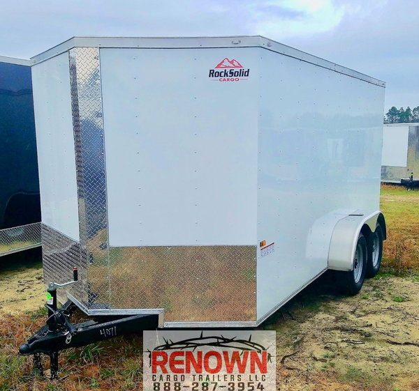 NEW 7X16 Tandem Axle Enclosed Cargo Trailer  for Sale $4,900