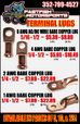 Terminal Lugs For Sale!  for sale $5.39