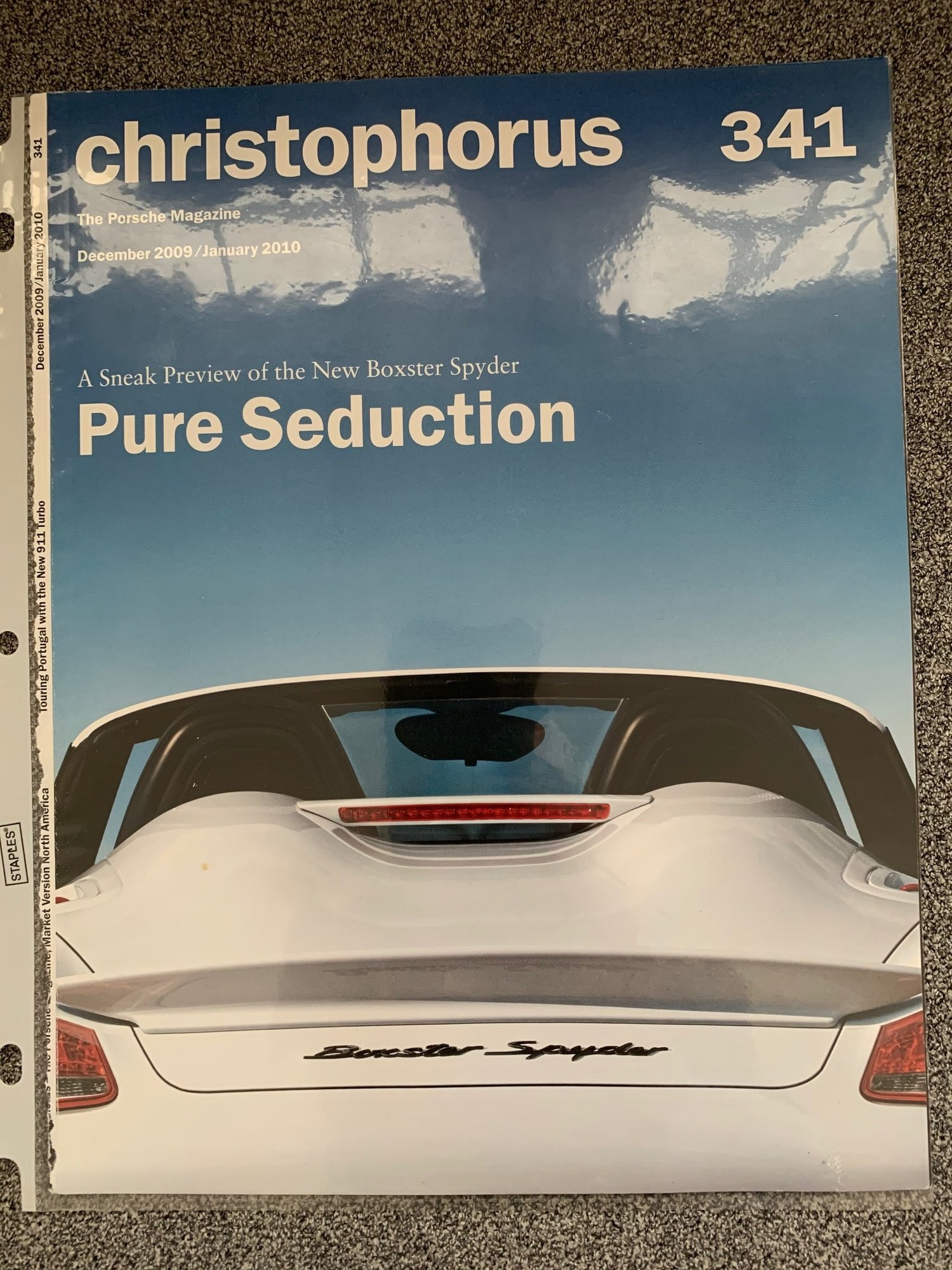 NEW 61 Pages Hardbound US Sales Brochure Porsche Boxster Spyder Type 981