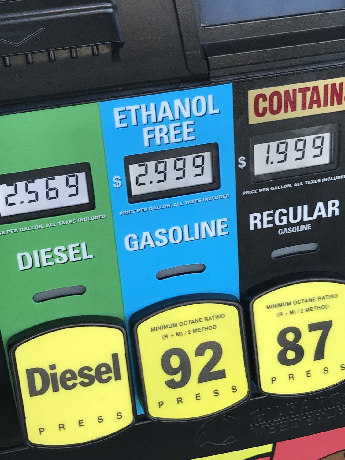 93 octane ethanol free gas near me