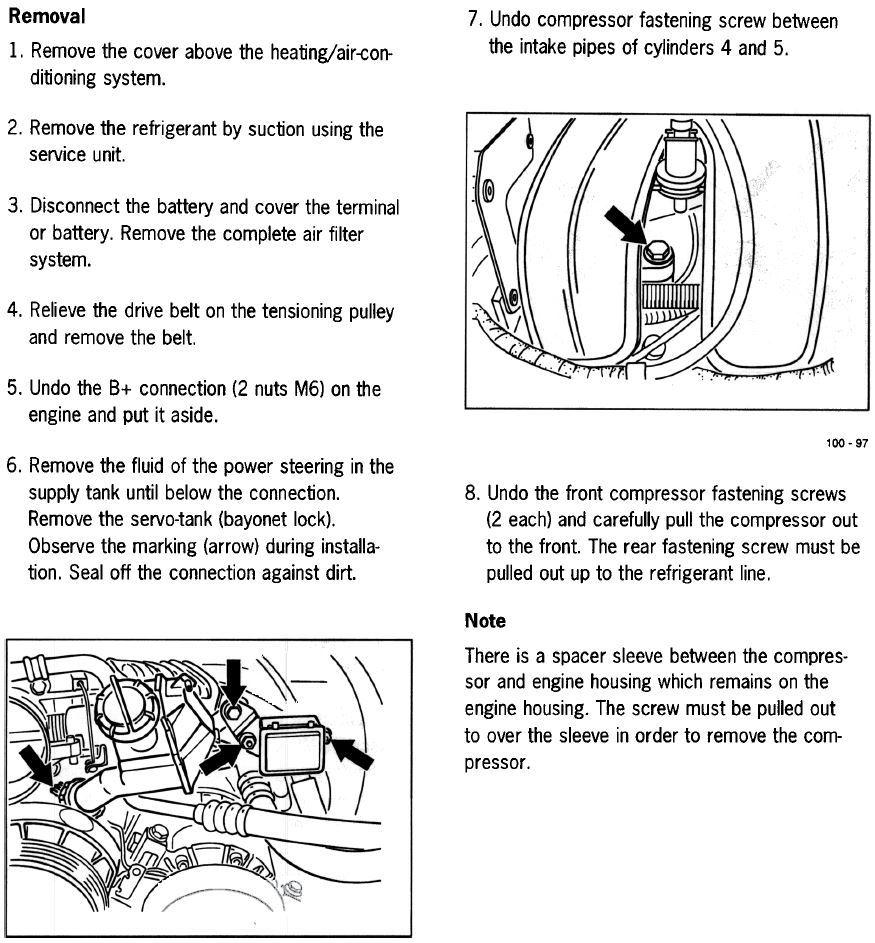 Removing AC compressor: Not a 3rd bolt question - Rennlist