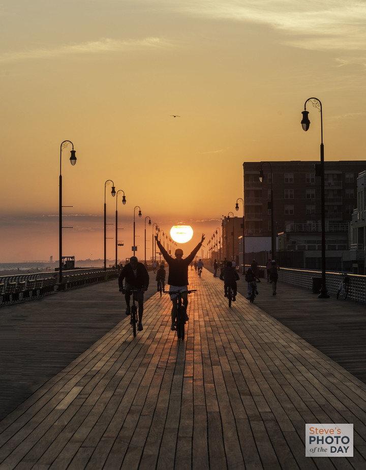 A Glorious Long Beach Boardwalk Sunset