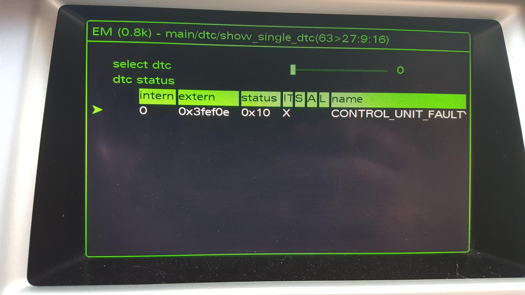 code 03124 - Terminal 30 - 3 Open circuit