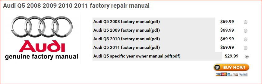 Factory service manual audiworld forums what is the difference between 2999 owner manual and 6999 factory manual sciox Choice Image