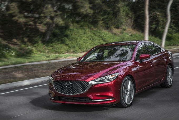 With Updated Styling Touches And A New Turbocharged Four Cylinder Engine  Borrowed From The CX 9, The 2018 Mazda6 Retains Its Slick Design, Upscale  Interior, ...
