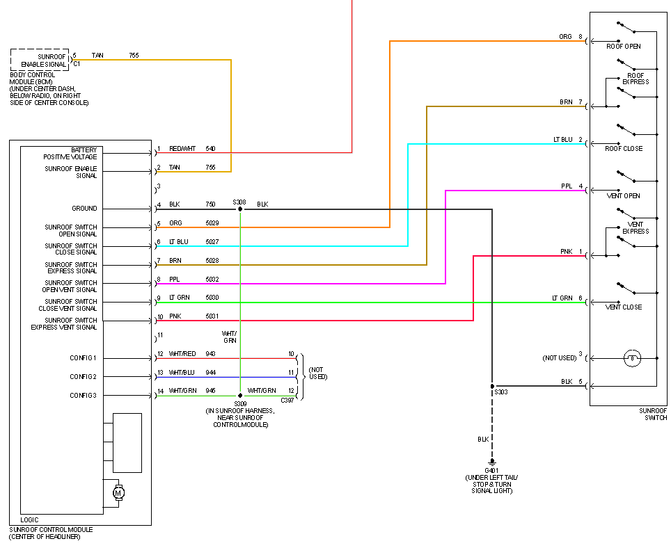 [ZTBE_9966]  Sunroof - Chevy HHR Network | Wiring Diagram For Sunroof |  | Chevy HHR Network