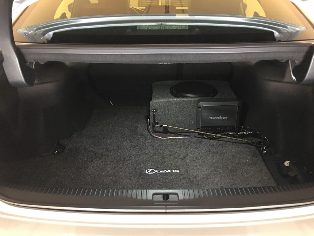 subwoofer install diy on factory non