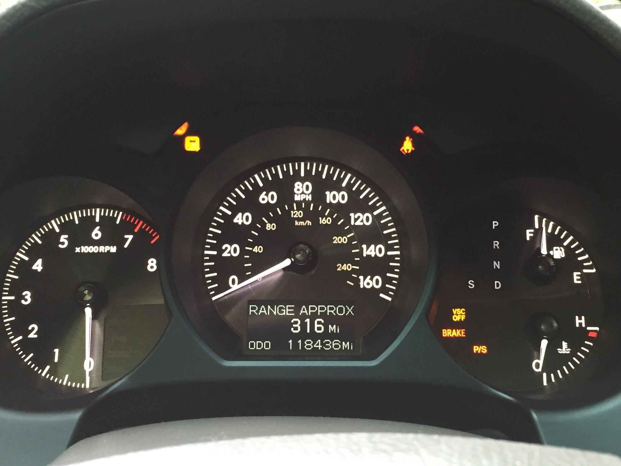 Vsc Light Lexus Is350