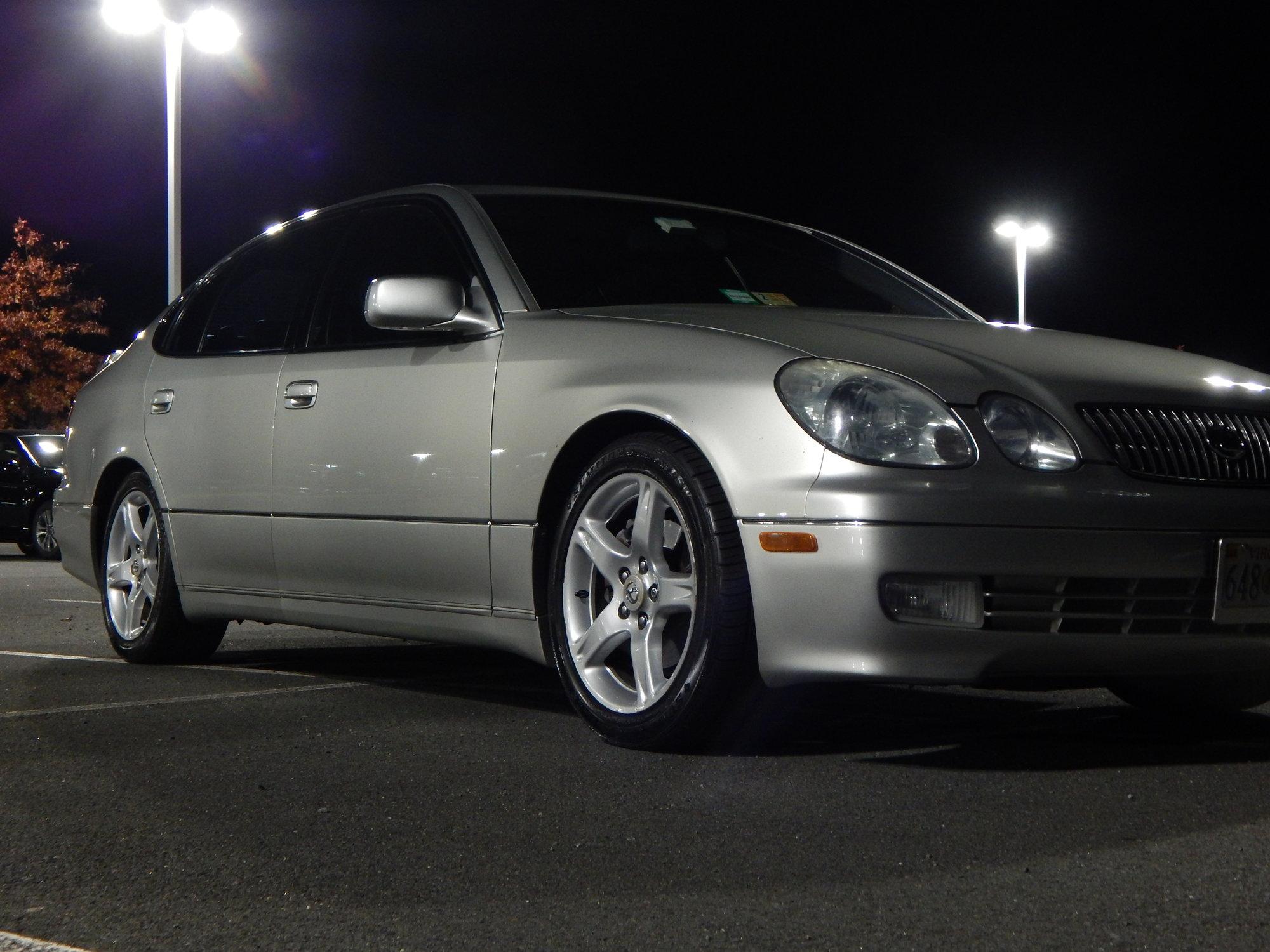 va 2001 gs430 millennium silver over black 1635k miles light mods