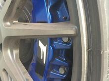 Reflective brake decals.